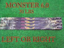 70 lb  Mathews Monster 6.0 LIMBS  55-70LBS. *SHIP WORLD WIDE**