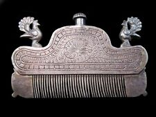 BEAUTIFUL RARE COLLECTIBLE ANTIQUE SILVER PERFUME BOTTLE AND COMB IN ONE!!!