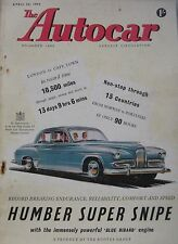 Autocar magazine 24/4/1953 featuring Jaguar XK120 engine