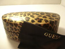AUTH  NEW GUESS SUNGLASSES LEOPARD CASE with CLEANING CLOTH