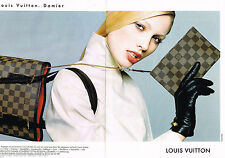 PUBLICITE ADVERTISING 055  1998  LOUIS VUITTON  (2p)  sac  DAMIER