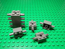 LEGOS - Set of 8 NEW 2 x 2 Modified Brick Axle with Pins and Axle Hole DARK GRAY