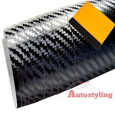 3m x 75cm 3D SATIN BLACK Carbon Fibre Vinyl Wrap Matte Decal Car + FREE SQUEEGEE