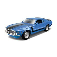 FORD MUSTANG BOSS 302 1970 1:24 car diecast KIT model die cast models blue
