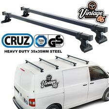 VW Transporter T5 Heavy Duty Roof Bars Roof Rack Cross Bars Pair TUV Approved