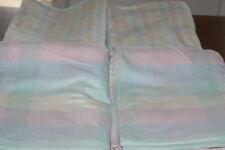 Irisette 50er Jahre 4 Pastell Betttücher,Bettlaken,Bettwäsche144 x 220 cm!