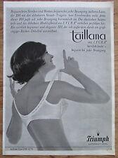 TRIUMPH TAILLANA MIT LYCRA BH original Zeitungswerbung aus 1963 Werbung Reklame