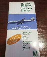 Flugplan Timetable MÜNCHEN FLUGHAFEN (Munich Airport) Sommer 2005 Summer 2nd Ed.