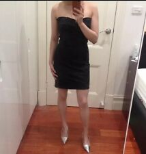 Kookai Black Sexy bodycon sleeveless strapless Mini dress above knee club skirt