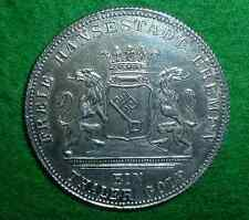 Rarity 93 *1871 B SILVER German 1 Thaler Germany Victory Over France COIN *RARE