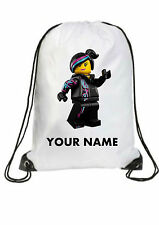 Personalised lego movie Lucy emmet Gym BAG for Swimming PE Dance School birthday