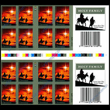 4711a Holy Family Christmas 2012 Imperf Booklet Gutter Strip Color Control Marks