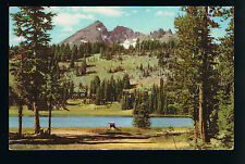 1941 Union Oil view of Broken Top Mountain and Todd Lake Oregon