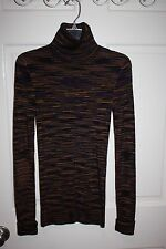 Womens Missoni Multi-Color Turtleneck Sweater Size 38 / US 2