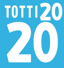 ITALIA TOTTI NAMESET 2000 SHIRT CALCIO Numero Lettera di calore stampa Football Home