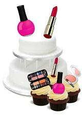 NOVELTY Make Up PACK 2 Large 12 Cupcake STAND UP Cake Toppers Birthday Makeup