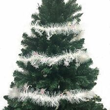 103 Inch Luxury Tinsel Christmas Garland - White/Snow