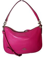 Coach Pink Leather Chelsea Crossbody Shoulder Handbag Purse f37018