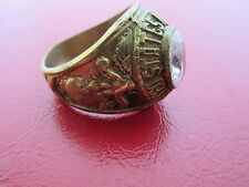 US Army Marine Corps Semper Fi Insignia Ring NAM PX Sterling Vietnam USMC Gr 65