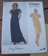 NEW Vogue 2830 American Designer Jerry Silverman Short or Long Dress 12 Bust 34