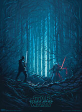 Gift for Him: Ltd. Ed. StarWars Force Awakens VII (Rouge One) Poster Dan Mumford