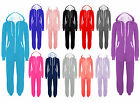 Womens Mens Unisex Plain Ladies All In One Jumpsuit Hooded Long Onesie Playsuits