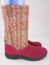 KEEN Girls Multicolored Sweater Knit Winter Boots US 4 EUR 37