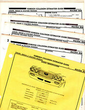MAZDA 808 COUPE SEDAN WAGON BODY PARTS LIST FRAME ORIGINAL RARE CRASH SHEETS MF2