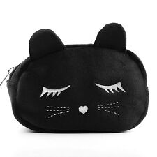 New Fashion Cat Ears Kitty Plush Coin Purse Cosmetic Makeup Pouch Cosplay Bag