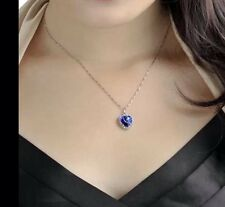 Flash Sale TITANIC BLUE DIAMOND HEART OF THE OCEAN necklace Diamanté