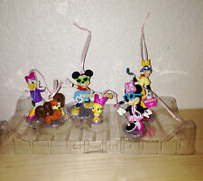 Disney Store Minnie Mouse Rock Star 6pc Ornament Toy Figures Set Mickey Daisy