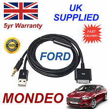 FORD MONDEO 1529487 3GS 4 4S iPhone iPod USB & Aux Cable black