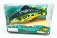 "Large-mouth Bass, Realistic Swimming Fish Water Pool and Bath Toy 8"" (B/O)"
