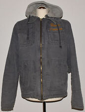 Scotch & Soda Jacke  Gr. XXL  Grau  Kapuze  Vintage  Used Look
