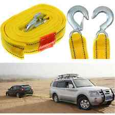 4M 5 Ton 5T Car Van Tow Towing Pull Rope Strap Hooks Heavy Duty Road Recovery