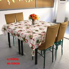 Christmas Xmas Ribbon Printing Design TableCloth Rectangle Polyester Tablecloth