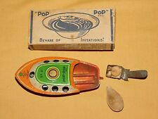 VINTAGE ALPS TOY CO JAPAN TIN LITHO POP POP CANDLE POWERED BOAT IN BOX