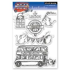 PENNY BLACK RUBBER STAMPS CLEAR LOVE LONDON STAMP SET NEW 2012