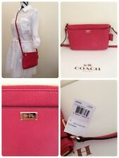 Coach 49992 ~Madison Leather Swingpack Cross Body ~Loganberry