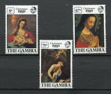 27714) GAMBIA 1980 MNH** Nuovi** Christmas - Paintings  3v
