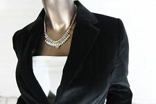 BANANA REPUBLIC (S) Womens Black Velvet Velour Notch Lapel One Button Blazer 4