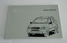 Betriebsanleitung Owner´s Manual Mercedes M-Klasse W163 ML 320 Benziner, MY 1998