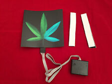 sound Activated DJ LED Flashing Light UP MARIJUANA LEAF W SENSOR FOR ANY T SHIRT