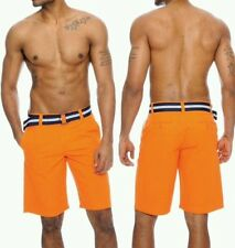 True Rock Mens Short  Bahamas Belted Walking Casual Fashion Chinos Jogger Shorts
