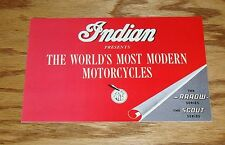 1950 Indian Motorcycles Foldout Sales Brochure Arrow Scout Series 50