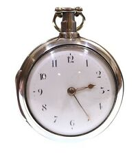 Antique Very Large 1807 Pair Cased Silver Fusee Verge Pocket Watch. Serviced