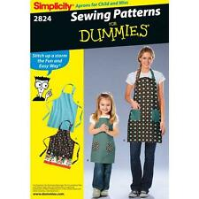 SIMPLICITY SEWING PATTERN CHILD'S AND MISSES' APRONS  2824