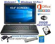 DELL LAPTOP LATITUDE WIN10 HOME CORE i5 OFFICE 2013 WEBCAM WIFI COMPUTER HDMI PC