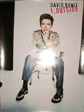 "DAVID BOWIE ""1 Outside"", orig Virgin promotional poster, 1995, 18x24, EX, NOS!"
