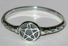 RING: SIZE 9 PENTAGRAM  SILVER 925 - Wicca Pagan Witch Goth Punk Charmed Occult
